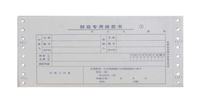 财政专用电脑票据